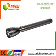 Factory Hot Sale 3 * C Ni-cd Cellule rechargeable Longueur d'aluminium Long Longueur à haute puissance 3w Police Cree led Flashlight