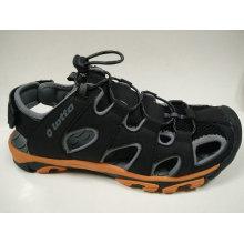 Sandalias de cuero de los hombres grandes del tamaño de los zapatos ocasionales