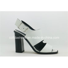 White Classic Elegant High Heel Lady Sandal