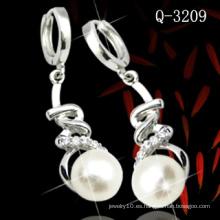 Pendiente de perlas de plata de ley 925 (Q-3209)