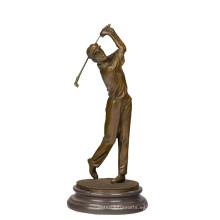 Estatua de bronce de los deportes Estatua de golfista Escultura de bronce Tpy-395