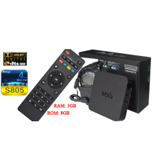 Mxq Android TV Box с Amlogic S805, 1 ГБ, 8 ГБ четырехъядерных процессоров, Dts, Dolby, 3D Google Android 4.4 Отт TV Box Интернет установить приставки HDMI 1.4 WiFi функции