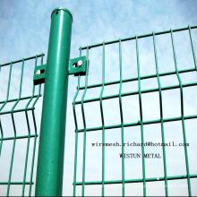 Painel revestido da cerca da rede de arame do PVC da segurança soldada da fábrica chinesa
