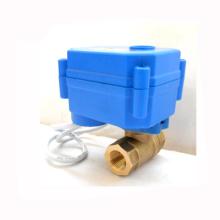 CR01 CR05 3.6v 6v 12v dn10 latón cwx-15q motorizado mini válvula de bola