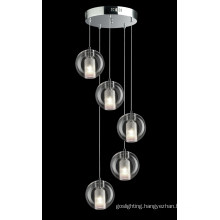 High Quality Polished Chrome Pendant Light for Home (P6548-5)