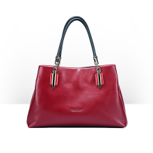 New Trend Wholesale Red Color Ladies Bags Fashion PU Leather Women Handbags (ZX10147)