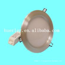 Haute puissance DC12-24v AC100-240v 3w / 9w / 12w / 15w / 18w aluminium 15w éclairage à plafond à faible profil