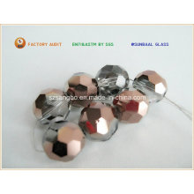 Plated Crystal Glass Bead