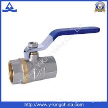 Válvula de bola de control de latón de medios de agua (YD-1023)