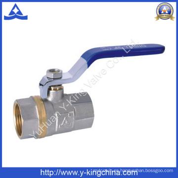 1 / 2-4 niquelado chapado latón válvula de control de bola para la válvula (YD-1023)