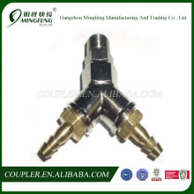 Y Type brass fittings 10mm hose barb, NPT1/2 quick coupler