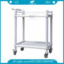 AG-UTB05 CE aprobó la carretilla médica abs hospital plástico carro de utilidad