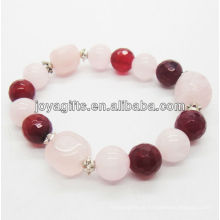 Contas de pedra natural esticar bracelete pulseira pulseira de gemstone SB0032