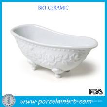 Mini plato de jabón de cerámica de moda de la moda