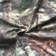 Polyester wool digital print thick coat fabric