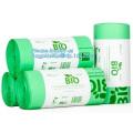 Eco friendly biodegradable compostable garbagebag, Biodegradable drawtape kitchen trash bag, drawstring rubbsh bag on roll