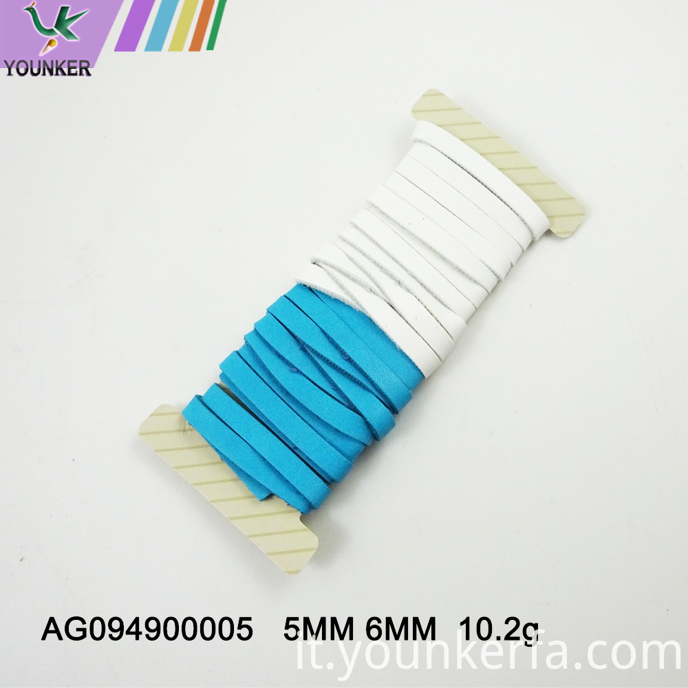 Flat Pu Leather Cord For Jewelry Making
