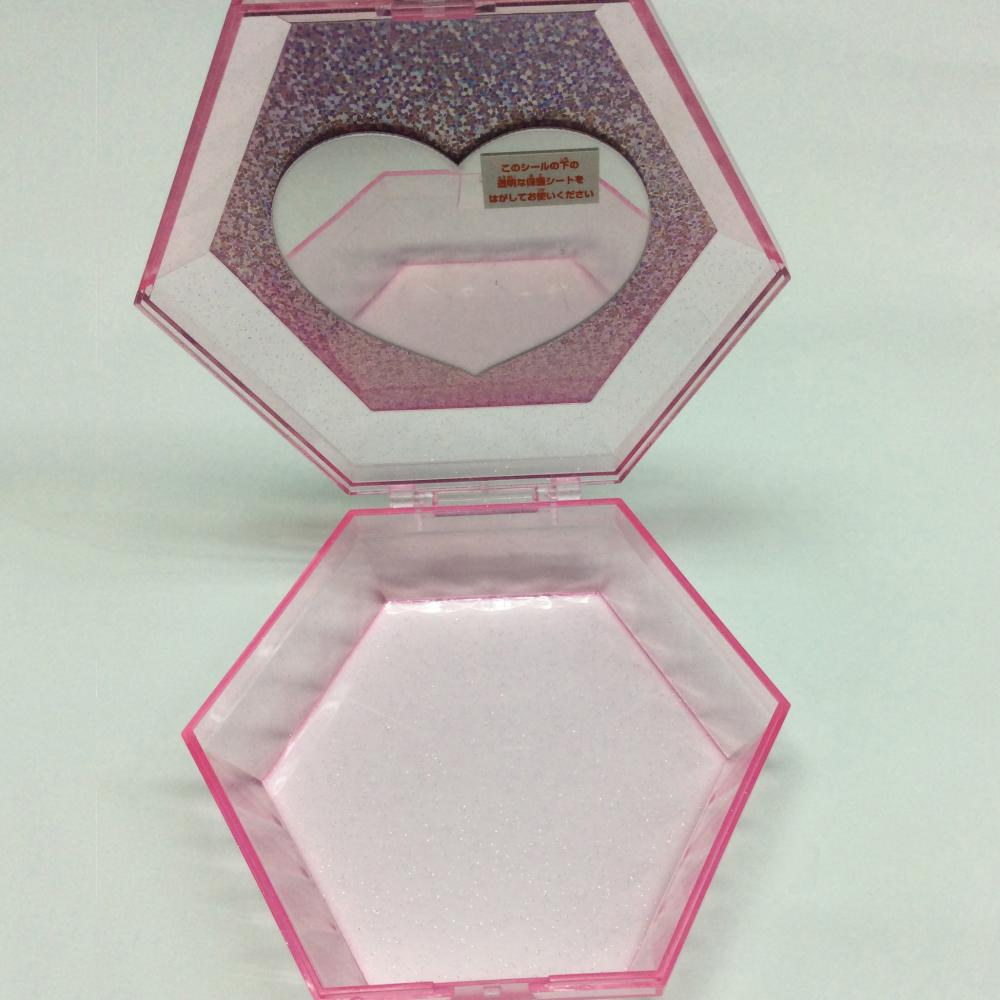 Plastic hexagon container