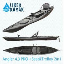 Angler 4.3 Fishing Kayak com Posição do Finder de Peixe, Motor Disponível