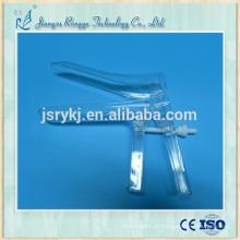 Espéculo plástico descartável vaginal para uso da mulher