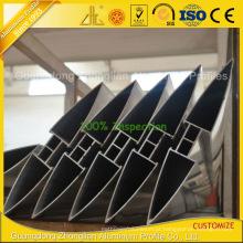 Perfil de alumínio personalizado extrusão Louvers / obturadores de alumínio para Windows
