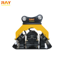 Hydraulic vibrating plate compactor for excavator uesed
