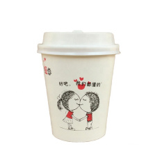 food safety tasting kids DIY cute cartoon mini disposable coffee cups wholesale recyclable from anhui anqing