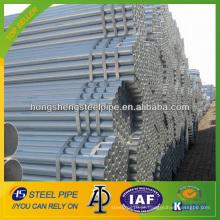 Tubo de aço galvanizado quente mergulhado / tubo fabricado na China