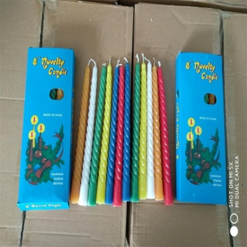 8 inci Coloful Spiral Lilin Hot Sale