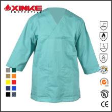 Uniforme médico vendedor caliente del algodón para el doctor o la enfermera