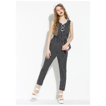 2015 New Arrival Special Design Stripe Jumpsuit for Women