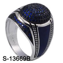 Le plus récent modèle d'usine en gros 925 Bague en bijoux en argent pour hommes (S-13669B)