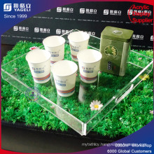 Custom Made Low Price Acrylic Coffee Tray