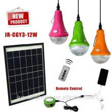 3/6/9/12/15W lumière maison solaire de système d'énergie solaire, système de lumière solaire,