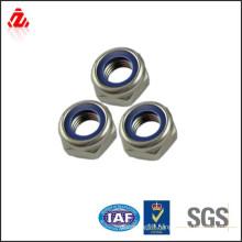 carbon steel zinc plated nylon locked waterproof nut