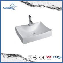 Высококачественный керамический шкаф тазика искусства и раковины для мытья рук (ACB8319)