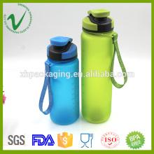 Tritan cilindro vazio esportivo boca larga limpa 500ml PCTG garrafa de água