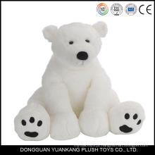 Brinquedo macio personalizado branco urso polar de pelúcia