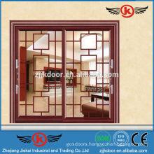 JK-AW9116 two glass panel interior door aluminum sliding door
