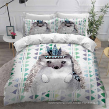 3D Printed Bedding Set with Hedgehog, Also Suitable for Duvet Cover
