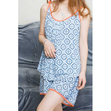 Blue Printing Damen Short Top und Hose