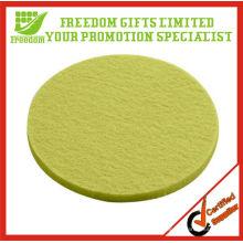 Eco-Friendly Green Wool Felt Coaster