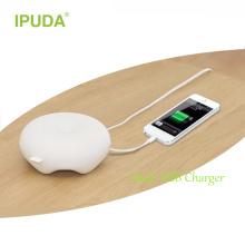Оптовая светодиодный стол настольные лампы ночь с 2 USB порт для ночного освещения цвет может изменяя путем трястить руки