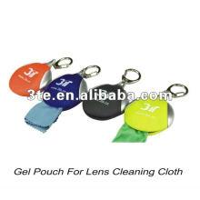 Tissu de nettoyage en microfibres à lentille Gel Pouch
