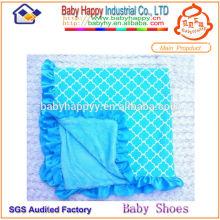 Couvertures de bébé en peluche faites à la main et bon marché