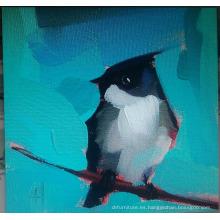 Pintura de pájaro negro