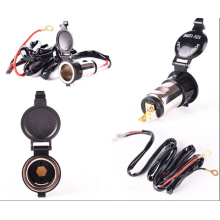 with 1.5m Cable Motorcycle USB Car Charger Cigarette Lighter Socket