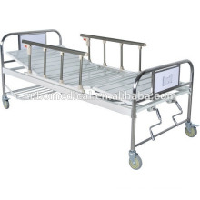 Side Rails two functions manual hospital bed With Double Shake