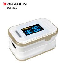 L'oxymètre de Digital d'impulsion de bout du doigt approuvé par hôpital de la CE DW-81C SPO2 avec l'écran d'OLED