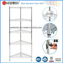 NSF Cromo Ajustable Triángulo Metal Esquina Wire Shelf Rack